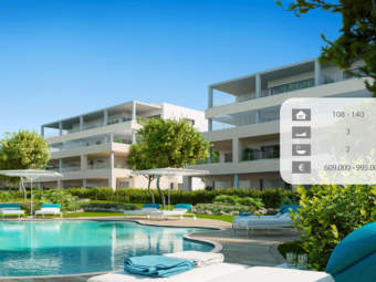 Spacious apartments in new exclusive complex at the golf course